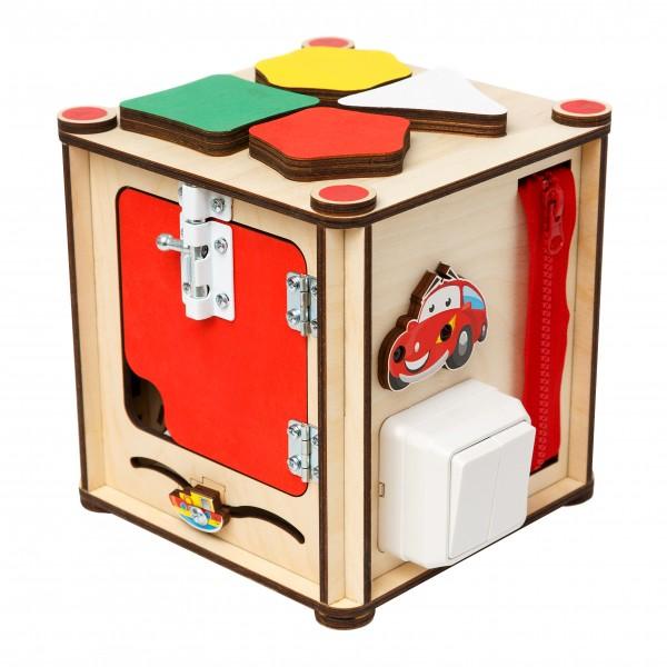 Бизи-куб «Зверята» (17х17х18)  (со светом)