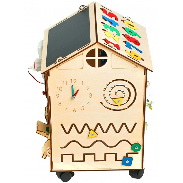 Бизи-дом на колесах (30х30х46)