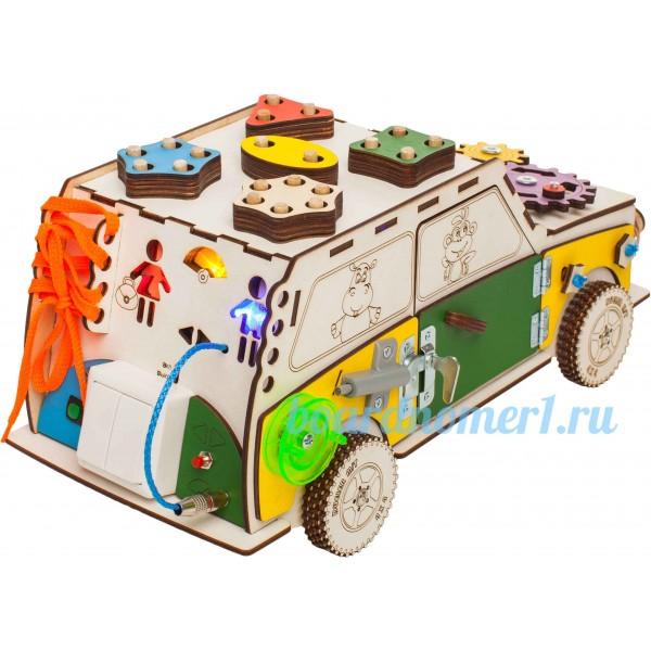 Бизи-машина со светом (40х20х20)