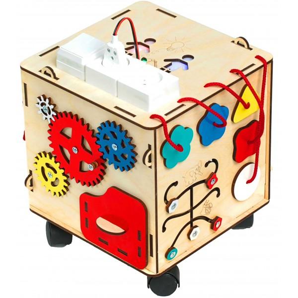 Бизи-куб со светом (25х25х25)