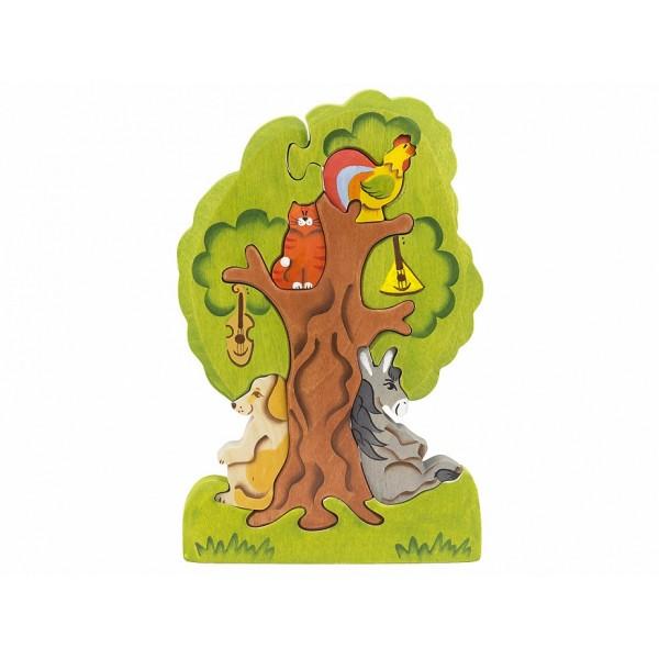 Бременские музыканты на дереве