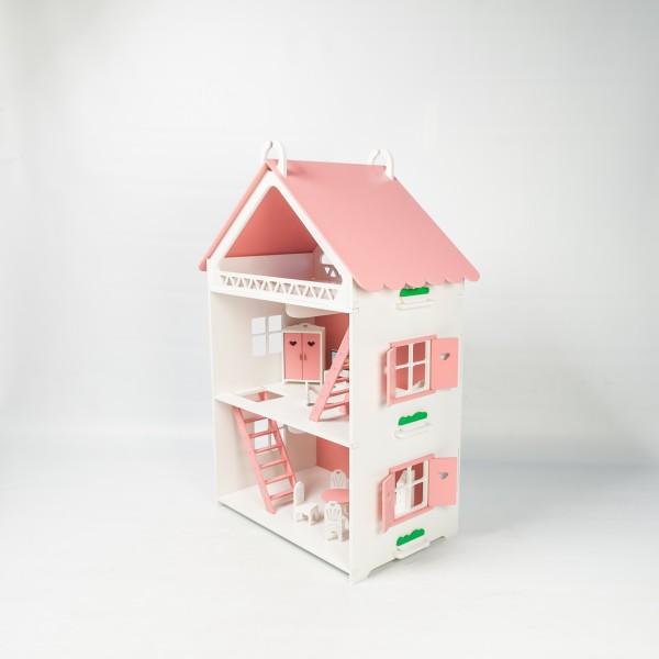Кукольный домик открытого типа для Барби (розовый)