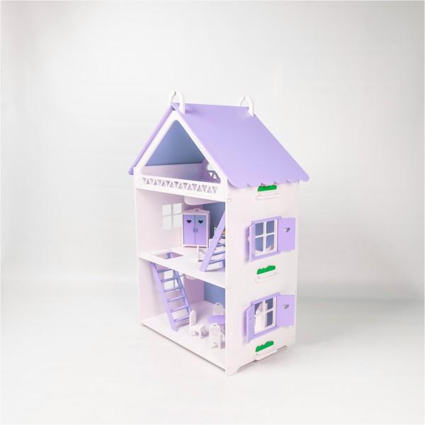 Кукольный домик открытого типа для Барби (сиреневый)