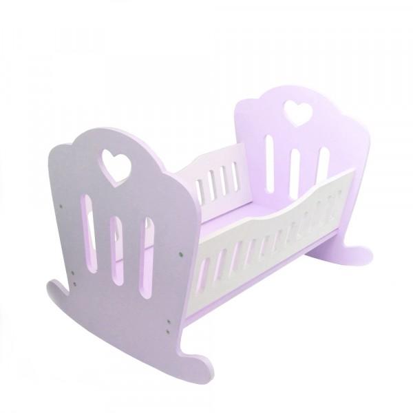 Кукольная кроваткаLilu для куклы до 50 см (Baby Born, Annabell) фиолетовая