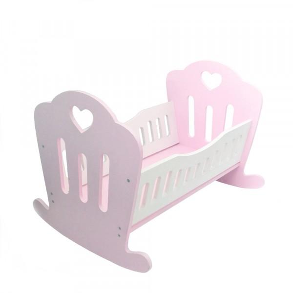 Кукольная кроваткаLilu для куклы до 50 см (Baby Born, Annabell) розовая