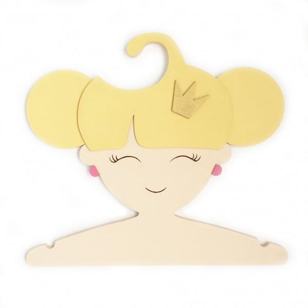 Комплект детских Вешалок Мальчик и Принцесса 30 см