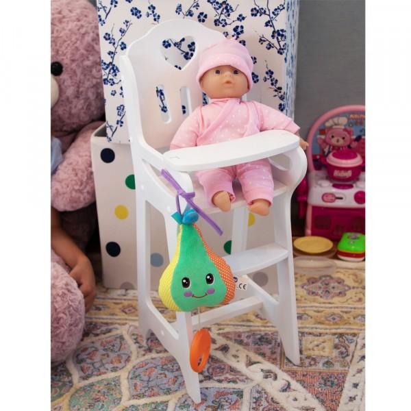 Стульчик Lilu для кормления куклы до 50 см (Baby Born, Annabell) белый