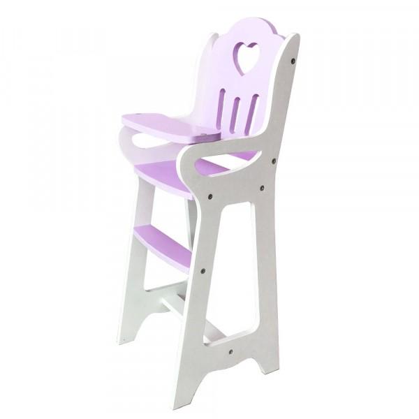 Стульчик Lilu для кормления куклы до 50 см (Baby Born, Annabell) фиолетовый