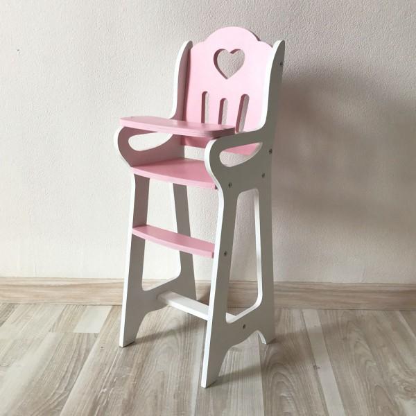 Стульчик Lilu для кормления куклы до 50 см (Baby Born, Annabell) розовый