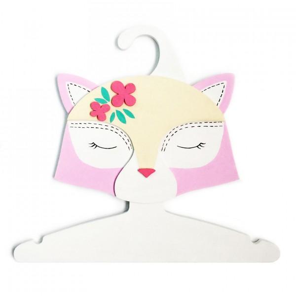 Детская Вешалка плечики Кошка розовая 30 см