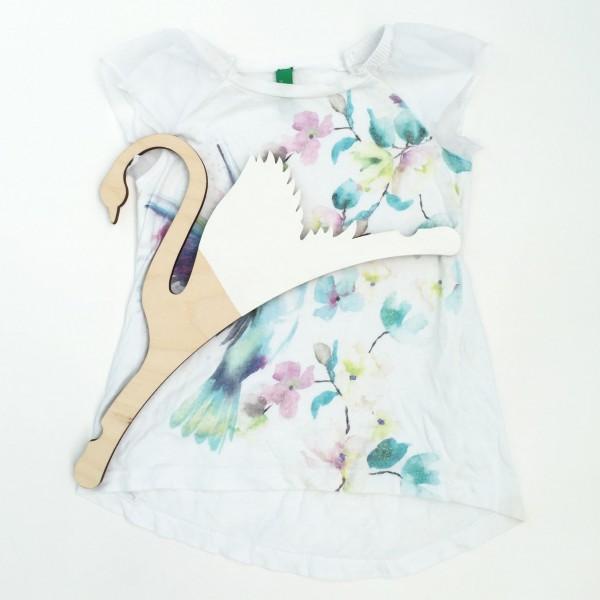 Детская Вешалка плечики Лебедь белый 30 см