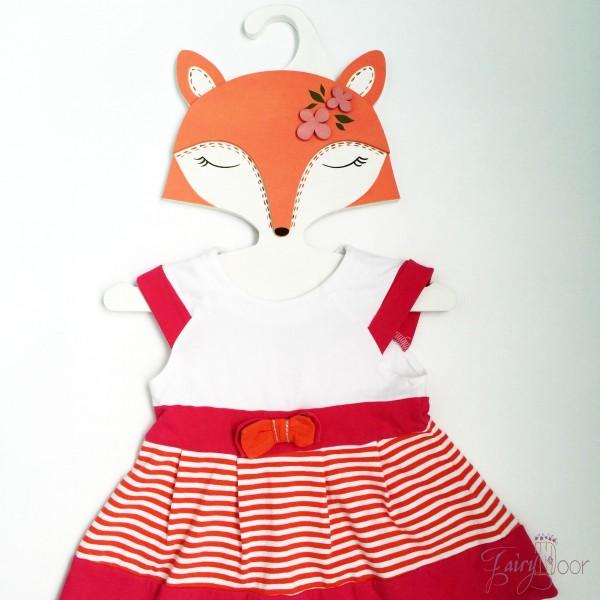 Детская Вешалка плечики Лиса оранжевая 30 см