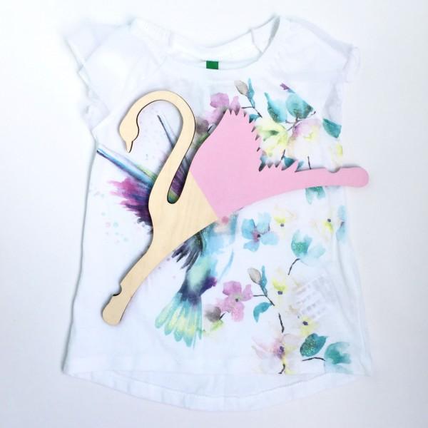 Детская Вешалка плечики Лебедь розовый 30 см