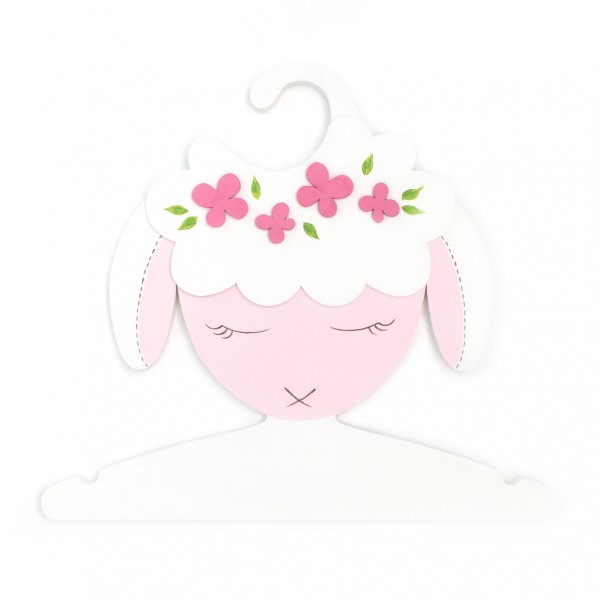 Детская Вешалка плечики Овечка белая 30 см