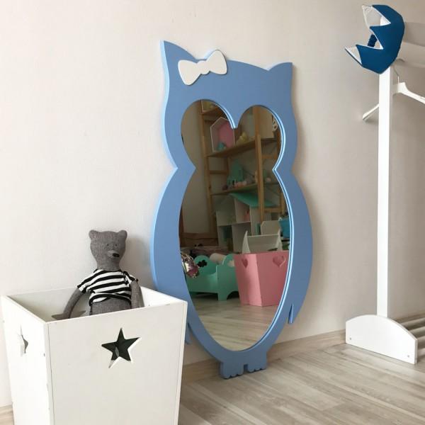 Детское зеркало Blue Owl Сова голубая 101 х 62 см