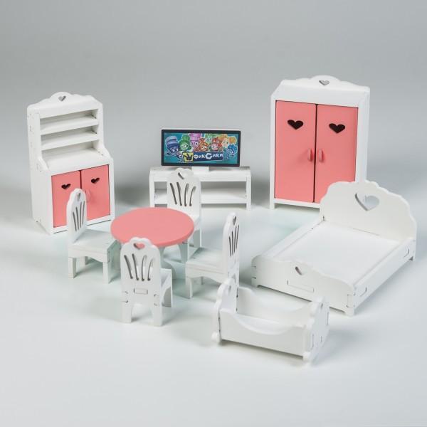 Набор мебели (розовый) для Барби