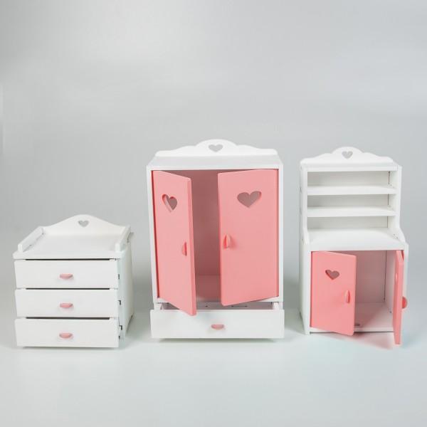 Набор мебели для Барби (розовый)