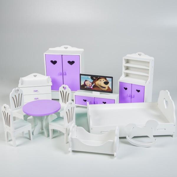 Набор мебели для Барби (сиреневый)