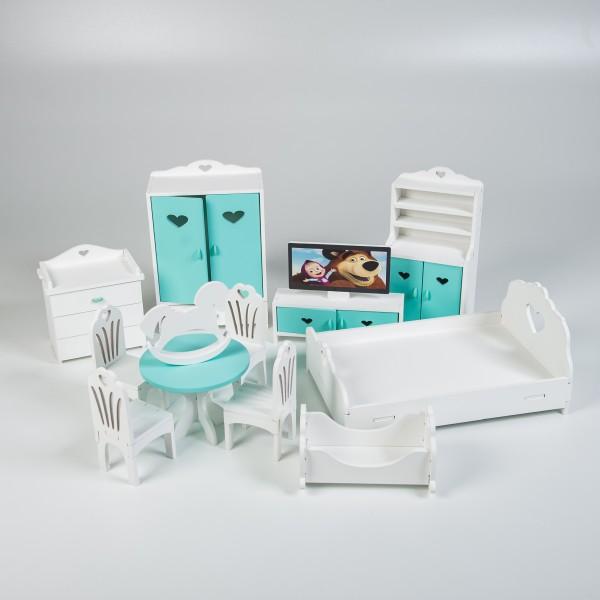 Набор мебели для Барби (мятный)