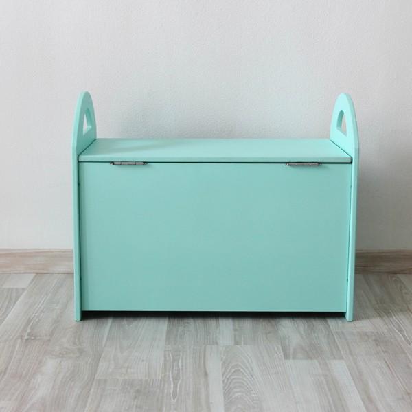 Детский сундук (ящик) для хранения игрушек бирюзовый с облачком