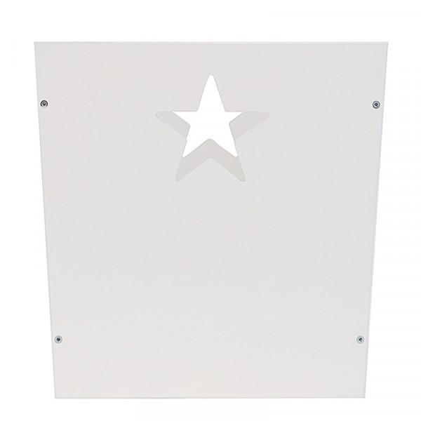 Ящик для хранения детских вещей и игрушек белый со звездочкой