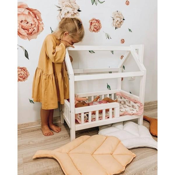 Кукольная кроватка-домик для куклы