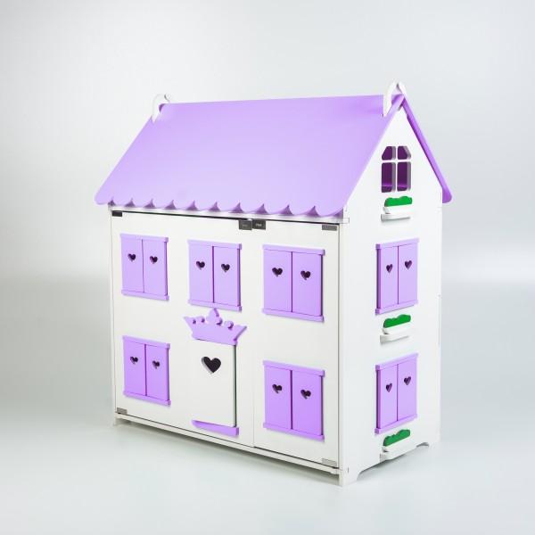 Кукольный домик королевы (сиреневый) для Барби