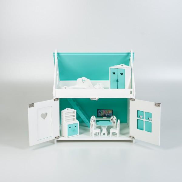 Кукольный домик принцессы (мятный)