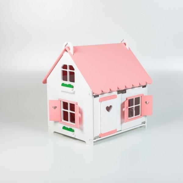 Кукольный домик принцессы (розовый) для Барби