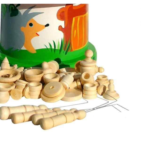 Игра «Бирюльки»  большой комплект в домике