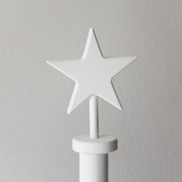 Детская напольная вешалка на ножке белая со звездочкой