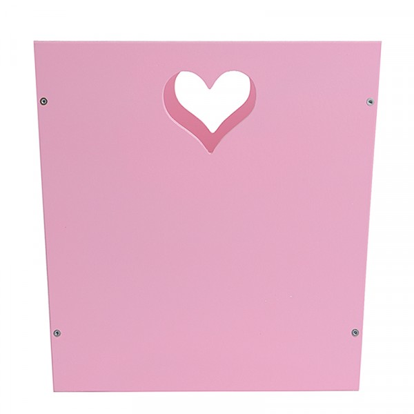 Ящик для хранения детских вещей и игрушек розовый с сердечком
