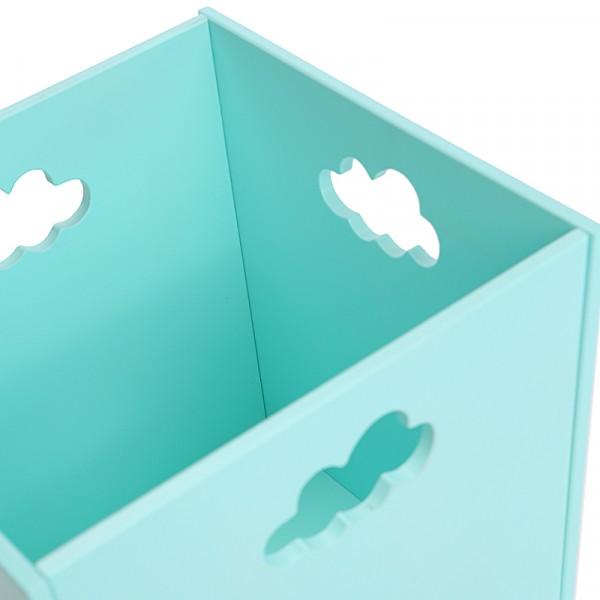 Ящик для хранения детских вещей и игрушек бирюзовый с облачком