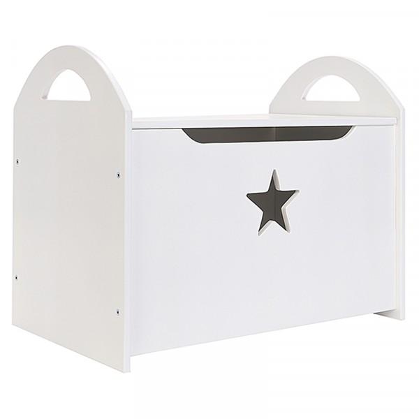 Детский сундук (ящик) для хранения игрушек белый со звездочкой