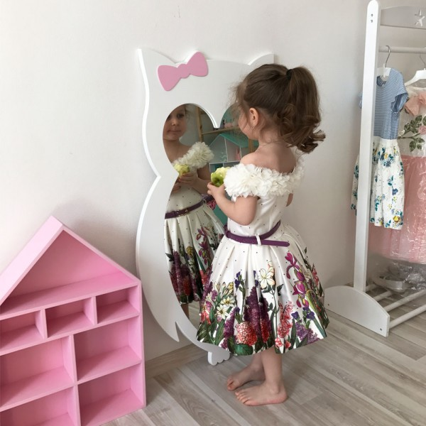 Детское зеркало White Owl Сова белое 101 х 62 см