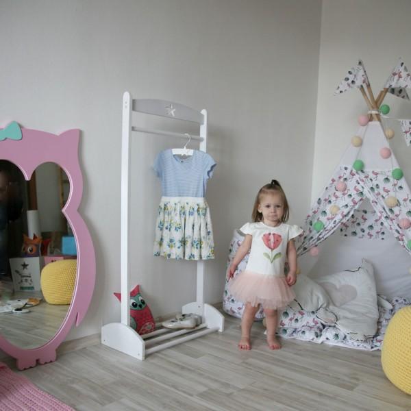 Детское зеркало Pink Owl Сова розовое 101 х 62 см